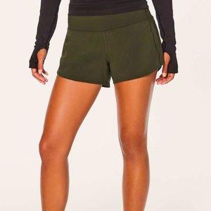 Lululemon olive green hoodie shorts